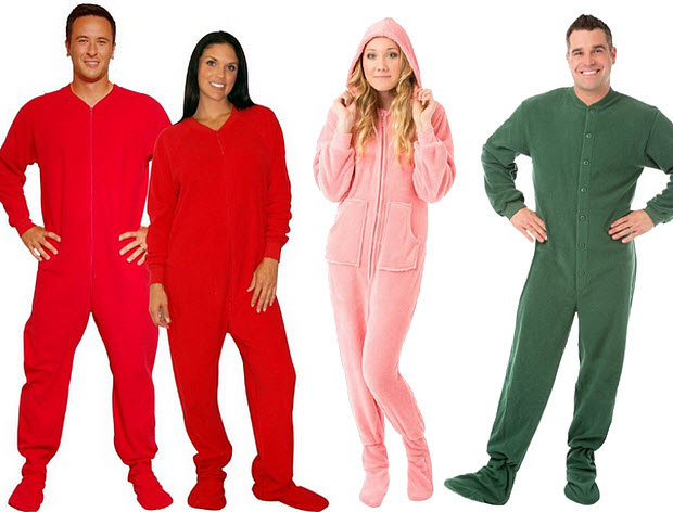 Onesies with feet for adults