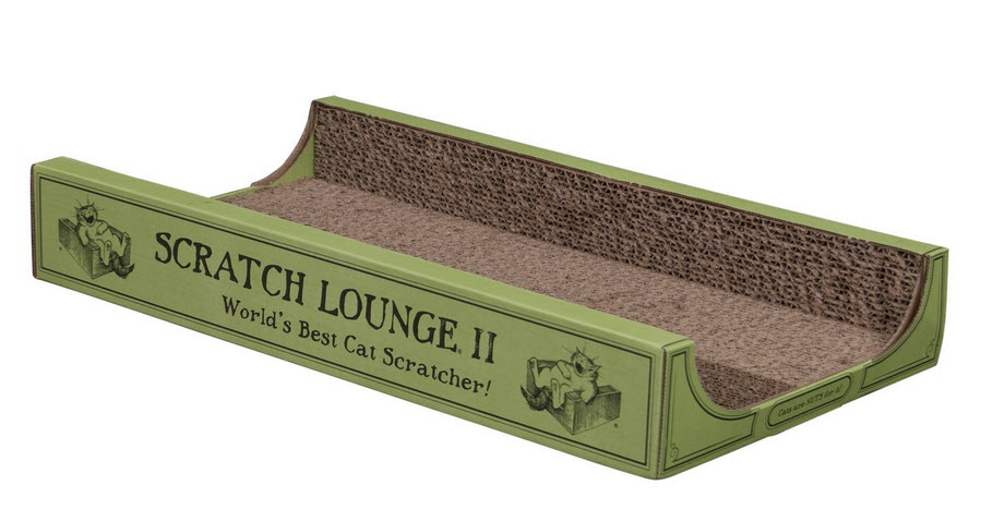 Cardboard cat scratching box
