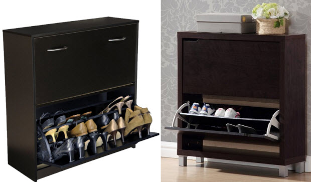 Contemporary wooden shoe storage cabinet - 2