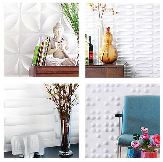 Decorative textured wall panels