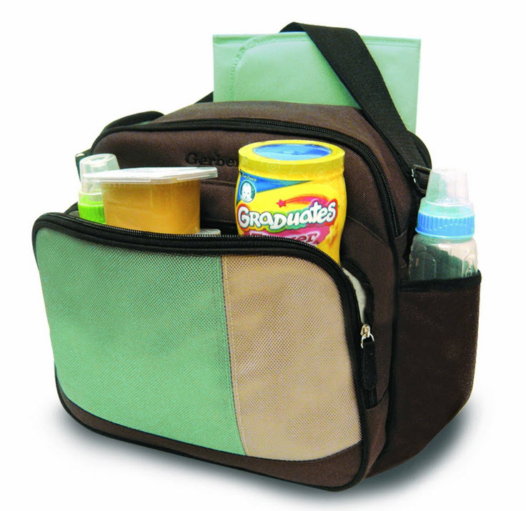 Diaper bag with cooler