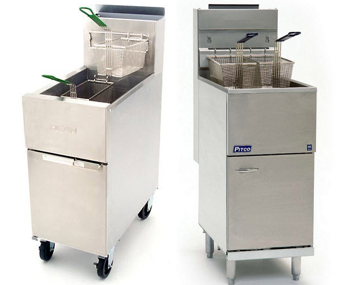 Free standing commercial deep fryer