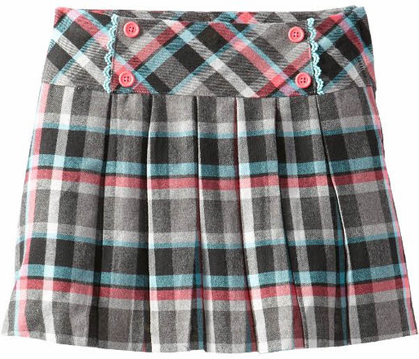 Girls tartan pleated skirts