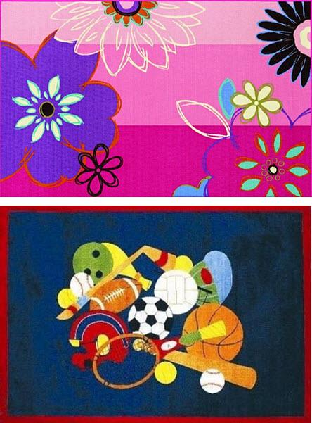 Kids bedroom wool rugs