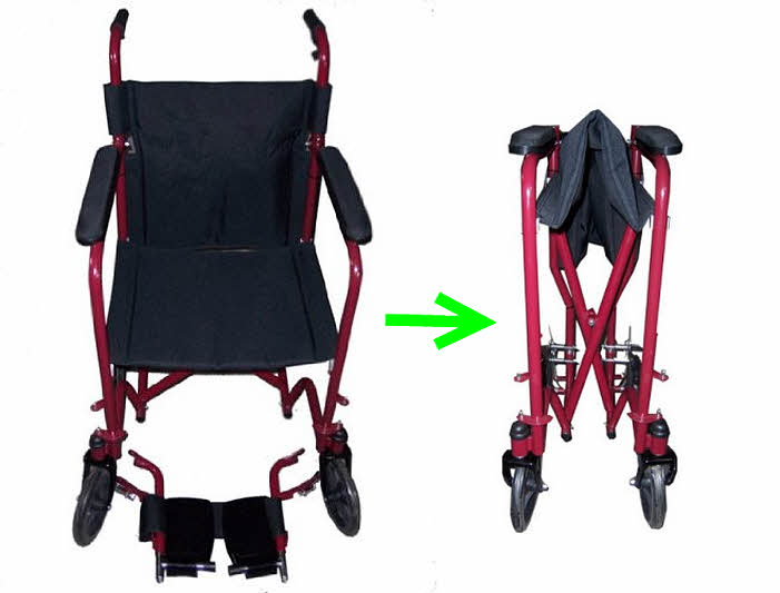 Light folding wheelchairs