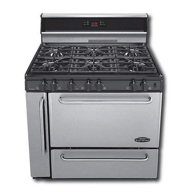 Six-burner commercial gas range