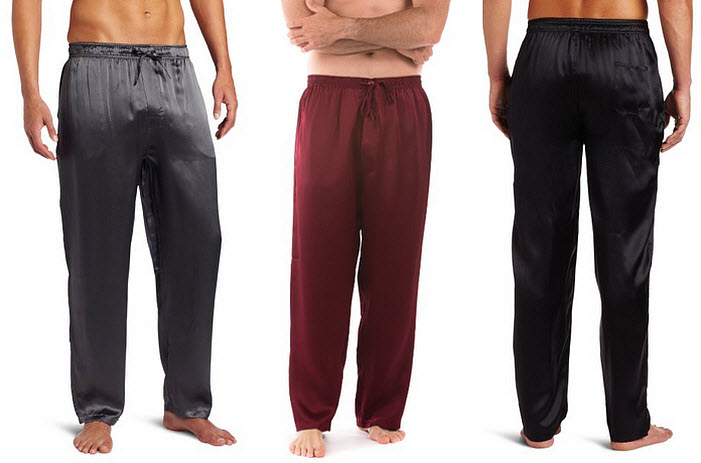 Silk pajama pants for men