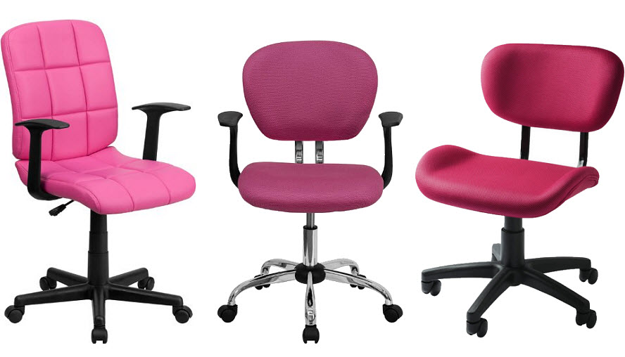 Hot pink computer chairs