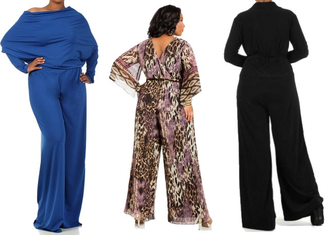 Plus size long sleeve jumpsuits