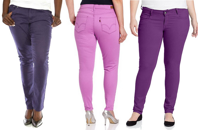 Plus size purple skinny jeans « Clothing for large ladies