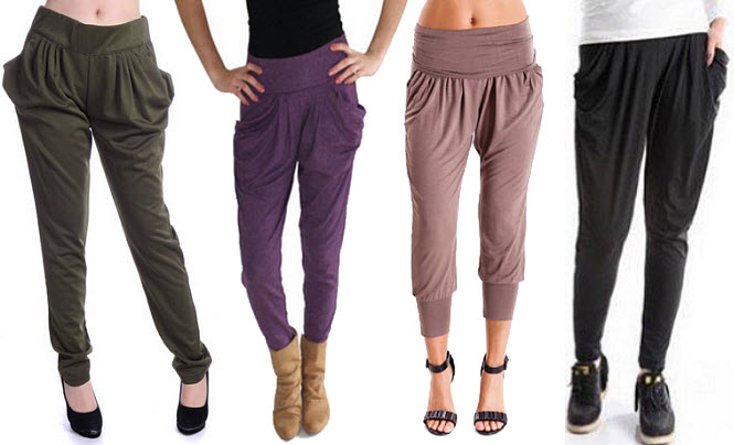 Slouchy pants for women