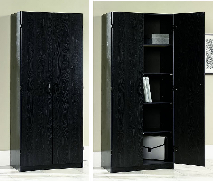 Black office storage cabinet