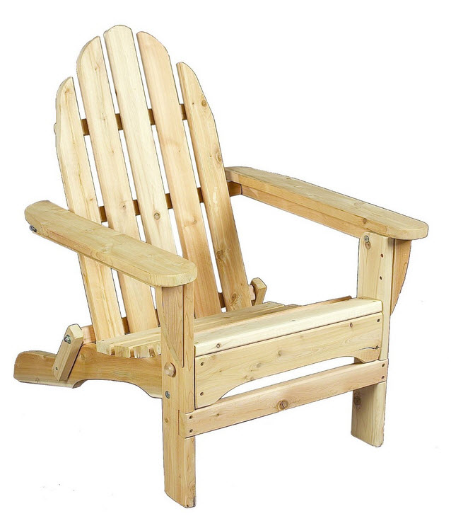 Folding cedar Adirondack chairs