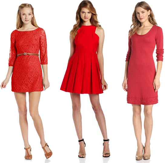 Red cotton dresses for women