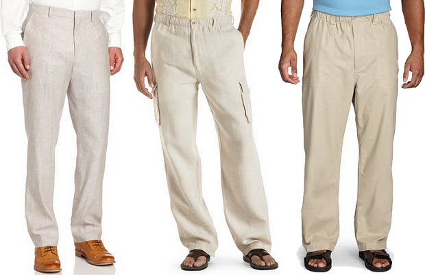 Big and tall linen pants for men