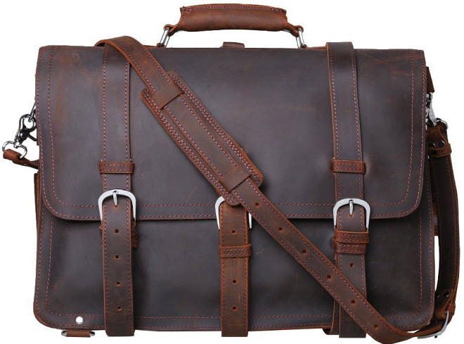 Leather bag for 17 inch laptop