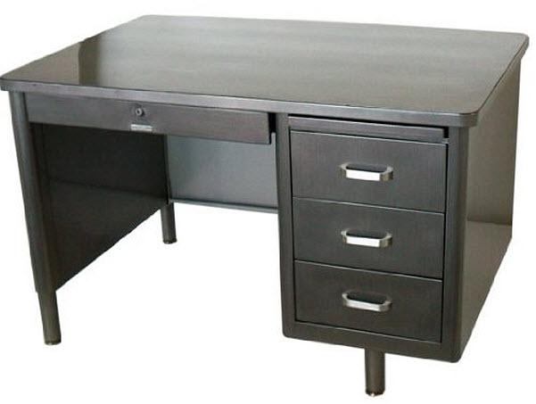 Metal desks with drawers