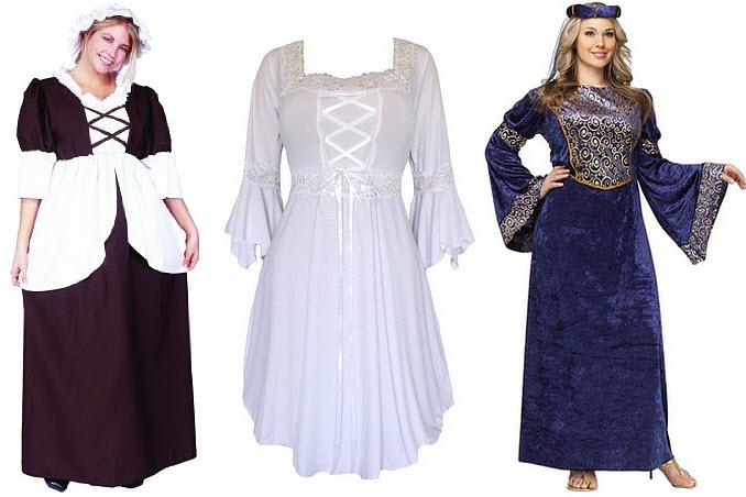 Plus-size Renaissance dresses