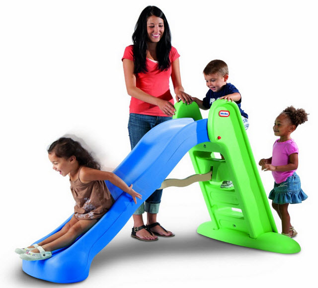 childrens plastic slides