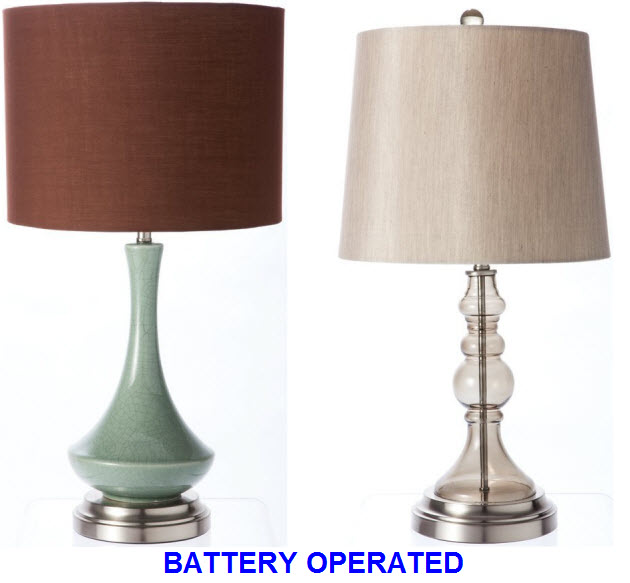 battery powered living room lamps battery operated living room table lamps 19348
