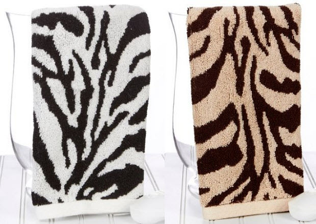 Zebra Hand Towels