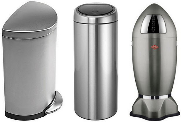 stainless steel kitchen trash can stainless steel kitchen trash cans whereibuyit 12040